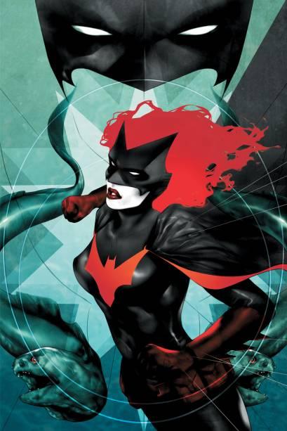 Batwoman. Uma das personagens femininas mais tradicionais da DC Comics, a Batwoman, criada em 1956, sofreu uma grande reformulação 50 anos depois, quando ganhou série de quadrinhos própria. Kathy Kane, uma ruiva de beleza e atitudes estonteantes, agora é lésbica, e tem ascendência judia. Sua versão nas telas segue a mesma premissa.