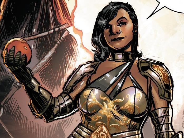 """Integrante de uma categoria de anjos da Marvel, Sera é a primeira personagem transgênero da Marvel. Apresentada em 2015 como coadjuvante na minissérie de Angela, ela era um homem punido por sua """"transgressão"""", que acabou se tornando companheira da personagem principal."""