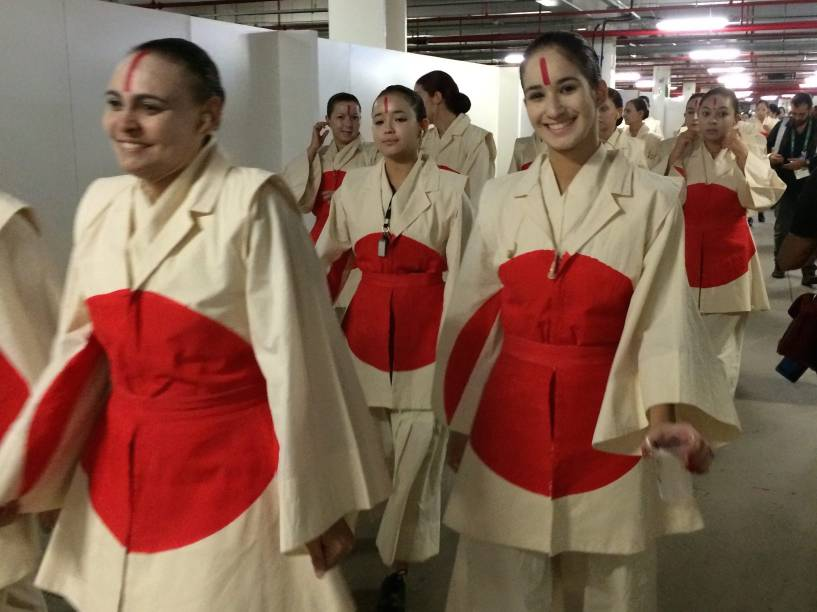 Como é de costume, diversas nações foram homenageadas durante a abertura das Olimpíadas