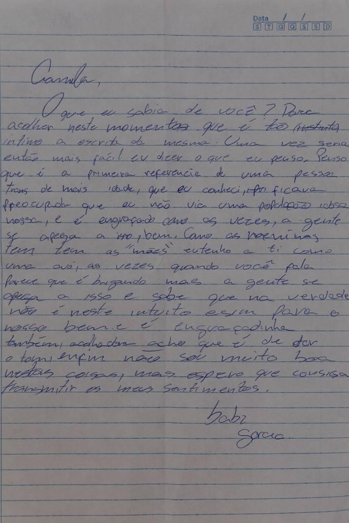 Carta de Bárbara para Camilla