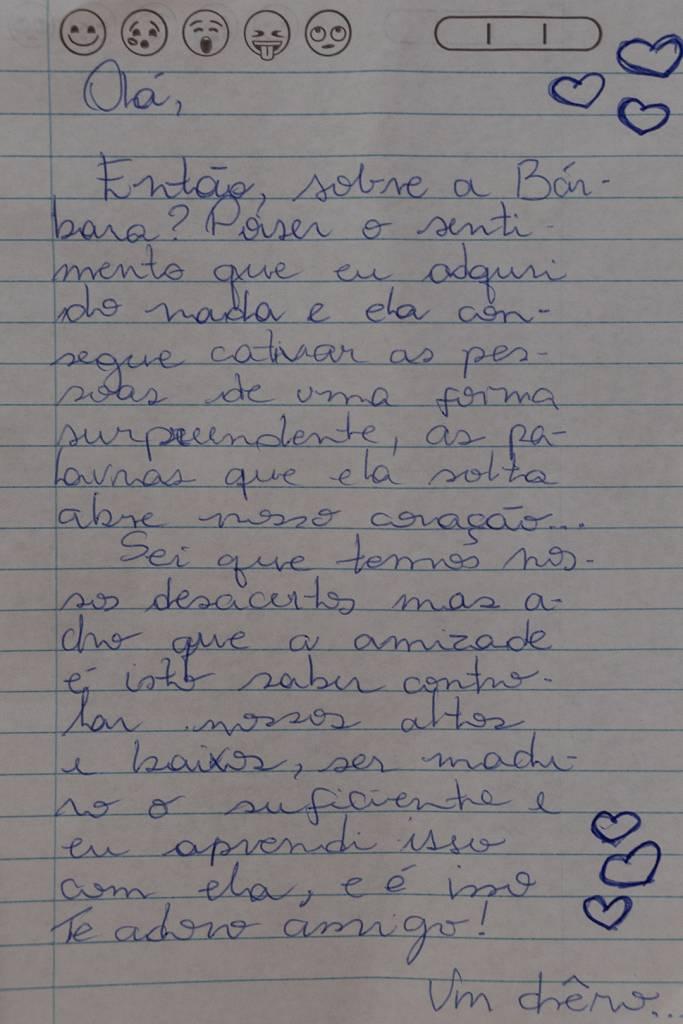 Carta de Celina para Bárbara