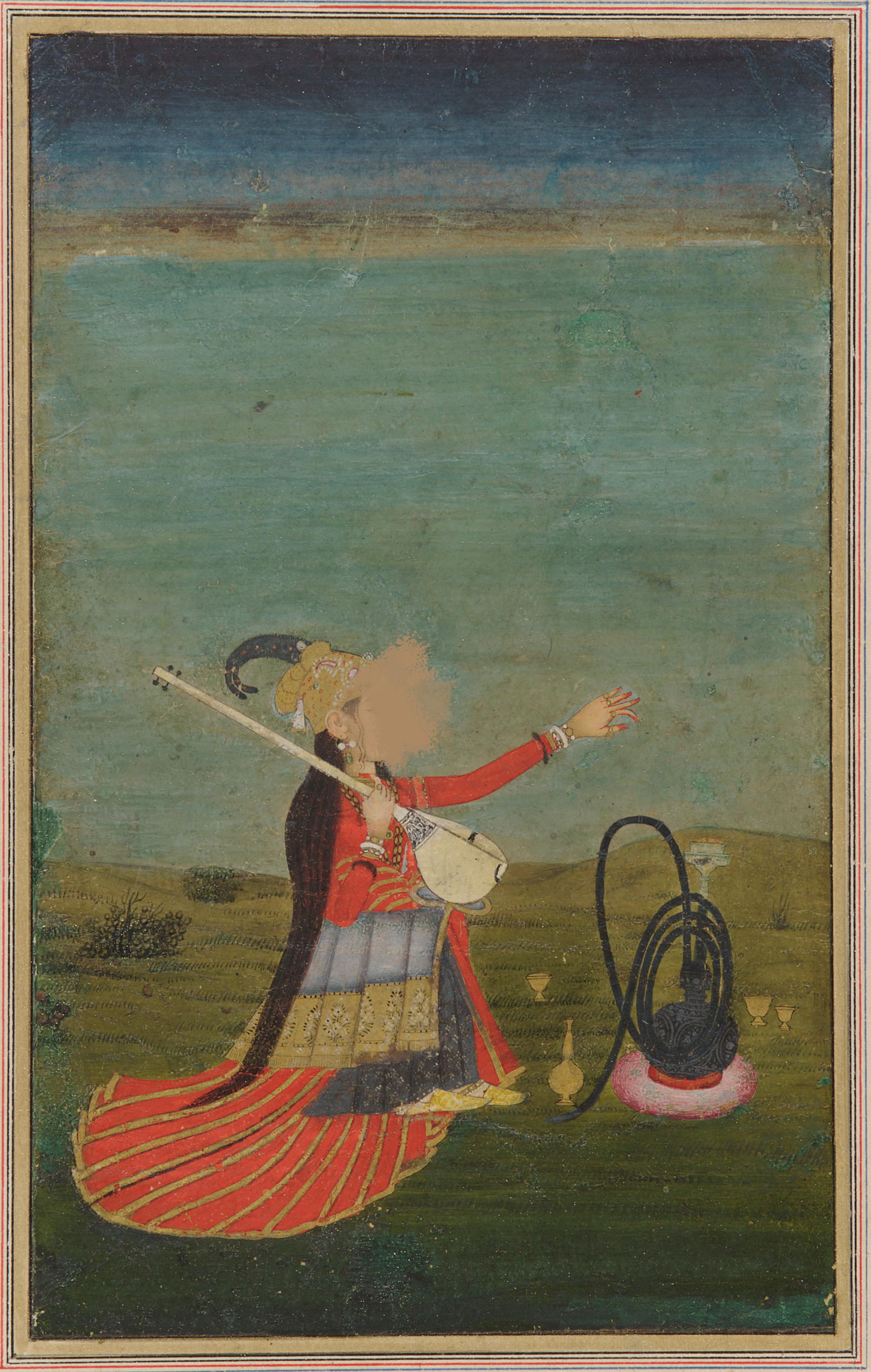 Smithsonian Asian Museum, south Asia collection – Mulher artista with tanpura