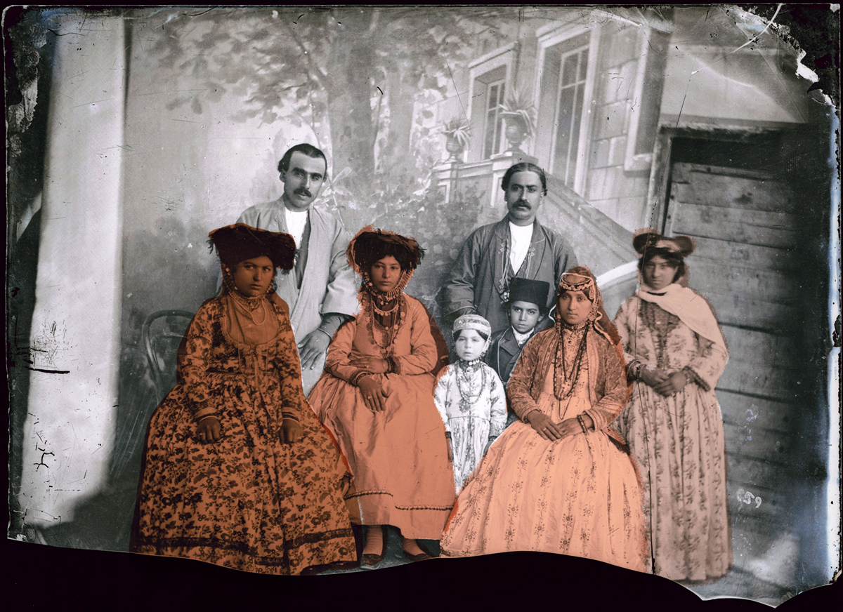 Família Nestoriana, Irã – foto Antoine Sevruguin, 1900