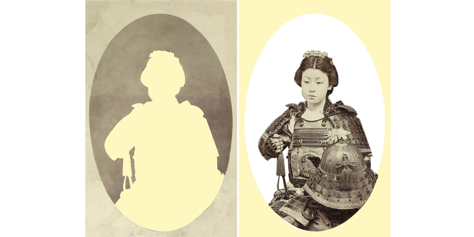 Uma Onna Bugeisha,guerreira Samurai do período Bushi, final do século XIX