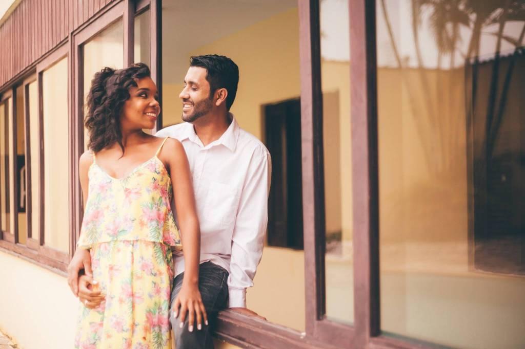Thelminha com o marido, o Denis Santos