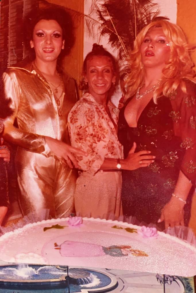 Andréa de Mayo com Kelly Cunha e Jacqueline Welch